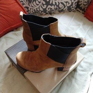 Sorel Addington Heeled Chelsea Boot Autumn Bronze